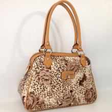 Guess Estara Brown Satchel Floral Handbag