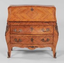 Louis XV-Style Parquetry Bombé Desk