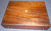 A 19th century large mahogany pistol box. 61cm