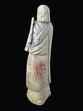 Carved Bone Okimono Figure