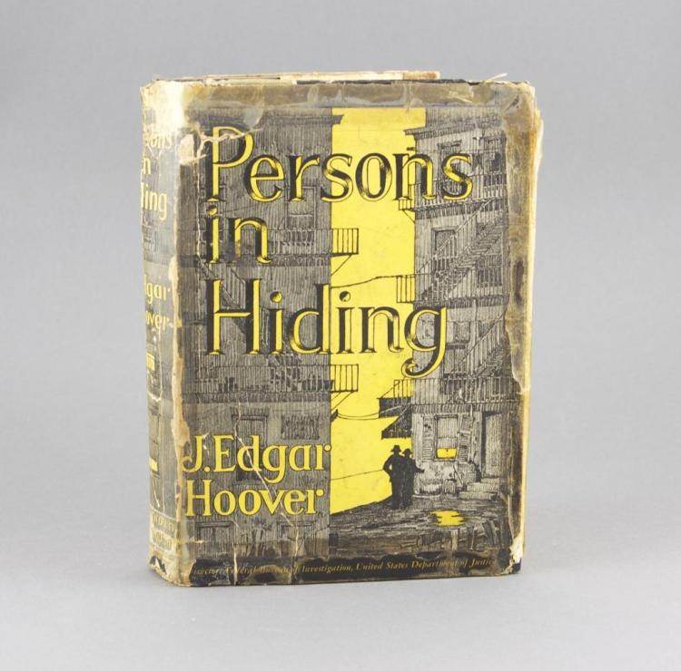 1938 J Edgar Hoover, Signed First Edition Book