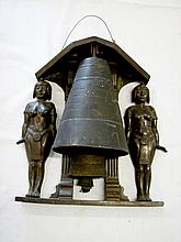 Egyptian-style bronze wind chime