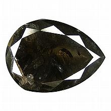1.32 ct Top light Black Natural Diamond Pear