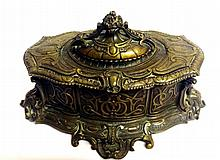 19th Century Bronze Metal Casket