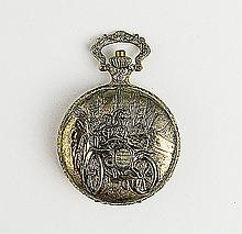 Men's Ornately Carved Pocket Watch