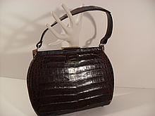 Vintage Lesco 1950s Crocodile, Alligator Purse