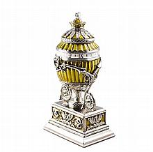 Lilly Bouquet Clock Faberge Inspired Egg