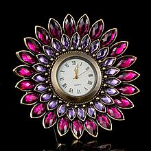 Amethyst Jeweled Desk Clock
