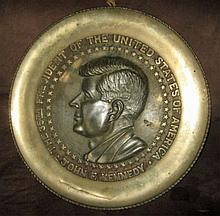 John F. Kennedy Brass Plaque