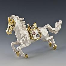 Faberge Inspired Equestrian Jewelry Trinket Box