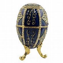 Conception Bleu Faberge Inspired Egg