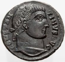 Constantine, Bronze Follis Coin ( 325 - 326 AD )