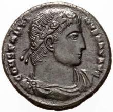 Constantine, Scarce Bronze Follis Coin ( 328 AD )