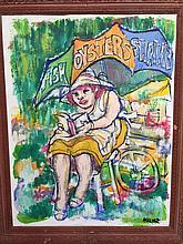 Signed James Malone, Primitive Folk Art Painting