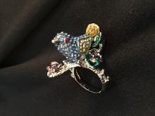 Swarovski Crystal Bluebird Ring