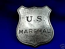 PP0739 US MARSHAL Reproduction OLD WEST BADGE