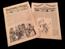 1850's Harper's Weekly & Gleason's Pictorial
