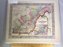Early color map of Eastern Canada