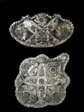 American Brilliant Cut Glass Dish Set