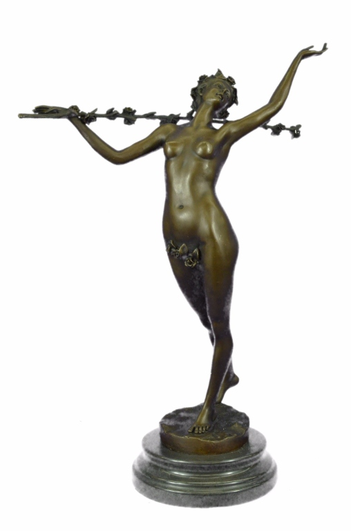 Nude Forest Nymph Bronze Sculpture
