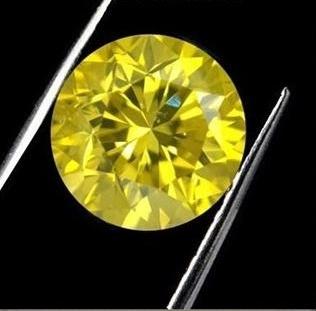 4ct Round Brilliant Cut BIANCO Canary Diamond