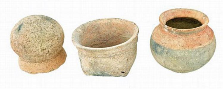 Group of Early Meso-American Vessels