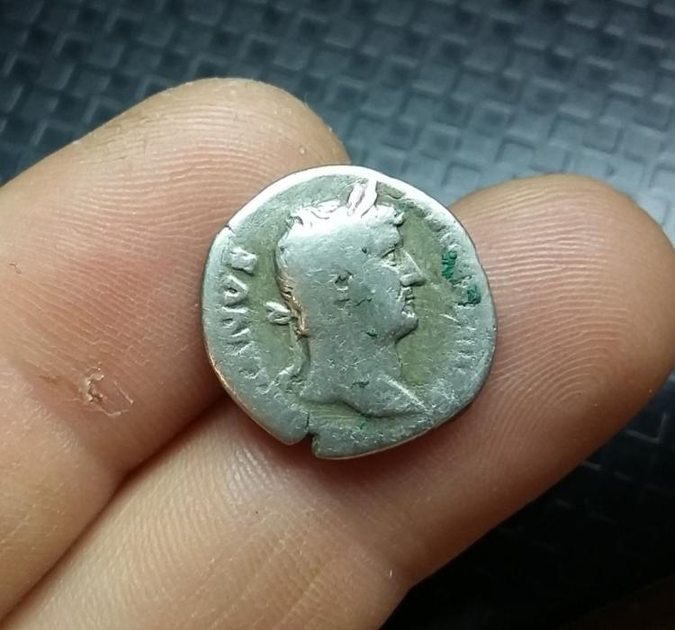 131 - 161 AD, Roman Silver Denarius, Hadrian