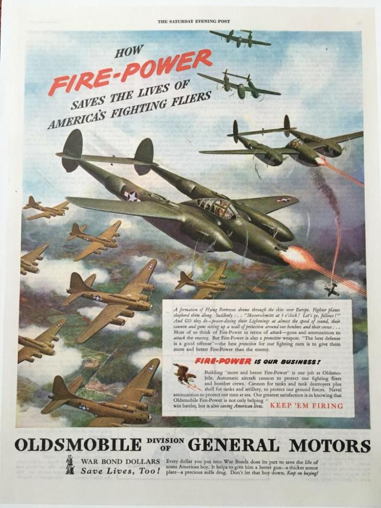 Oldsmobile Fire-Power WWII Fighter Planes Ad