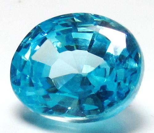 9.5ct Light Blue Oval BIANCO Diamond