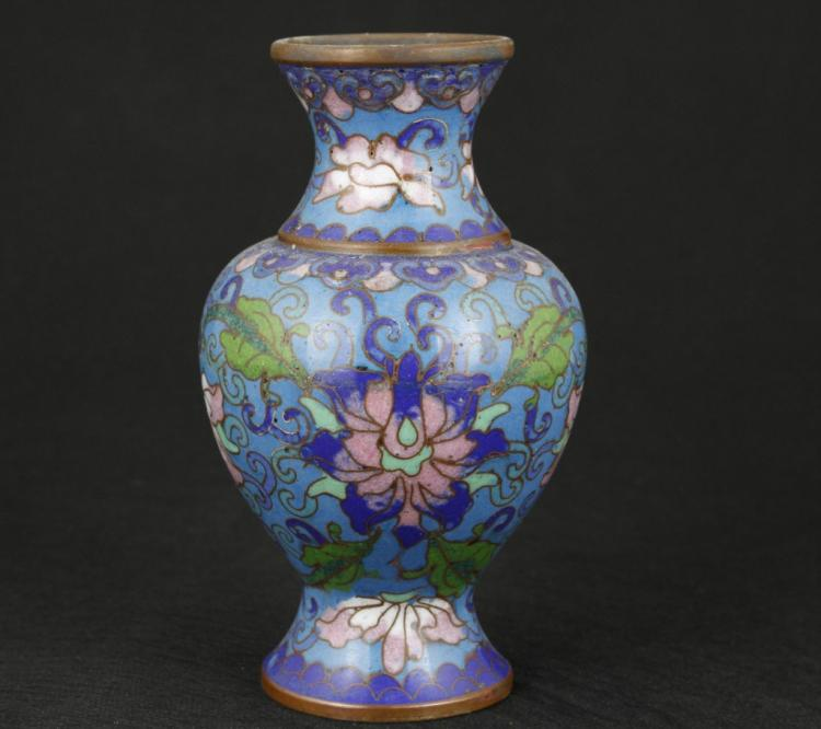 Chinese Enamel Copper Cloisonne Vase