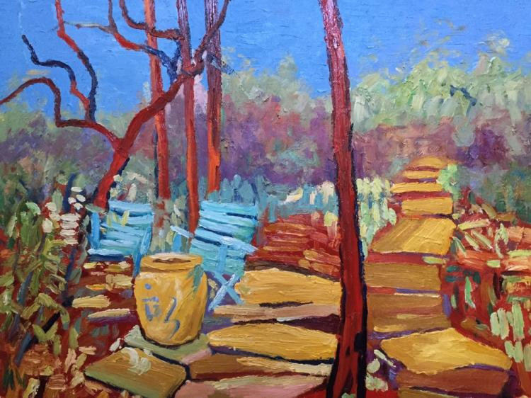Oil on Board Impressionist Landscape Painting