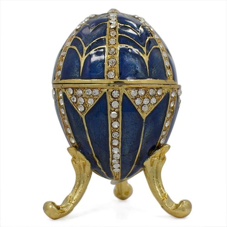 Art Deco Jeweled Trinket Box Egg