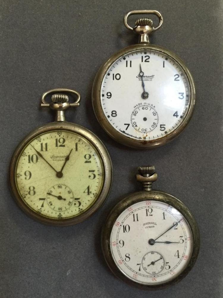 Late 19th - Early 20thc Ingersoll Pocket Watch Set