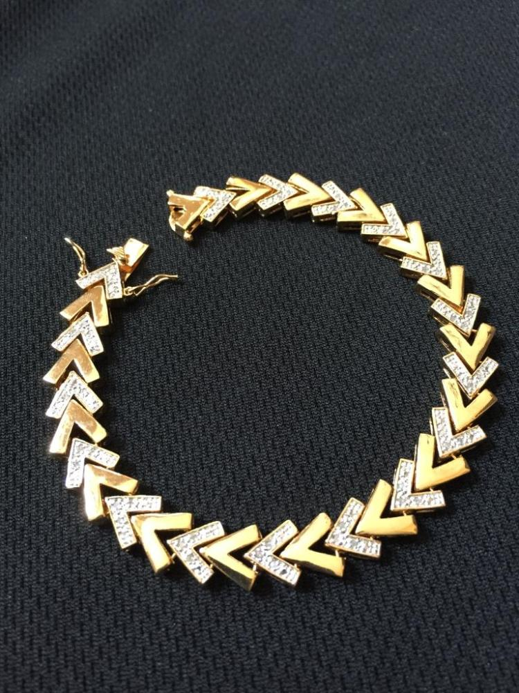 Art Deco Gold & Diamond Bracelet