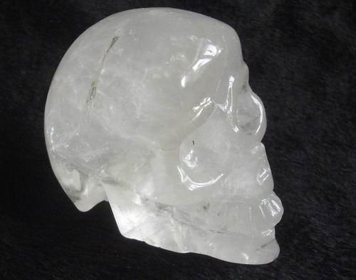 Carved Quartz Human Skull