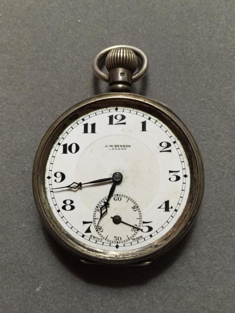 1930's J W Benson London, Swiss Pocket Watch