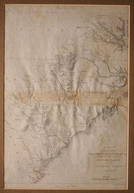 18thc Map of Virginia, Carolina's & Georgia