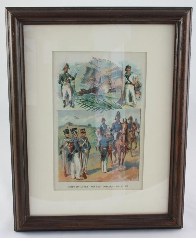 1899 Chromolithograph Print, War of 1812