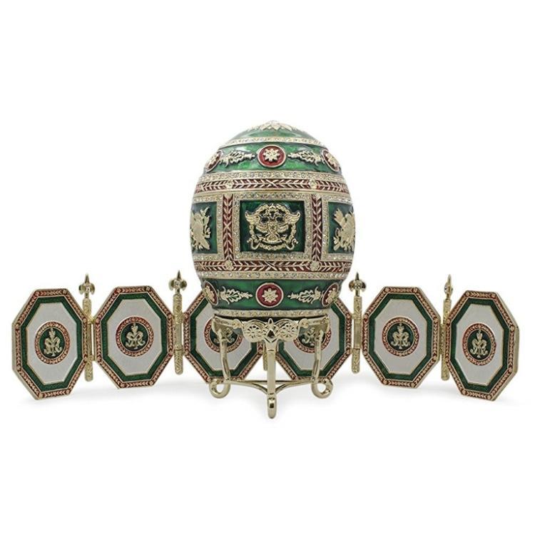 Faberge Inspired Napoleonic Egg Frame Trinket Box