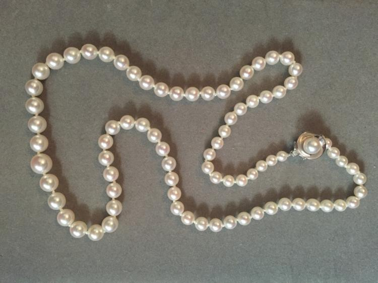 Graduated Akoya Pearl 14kt Necklace