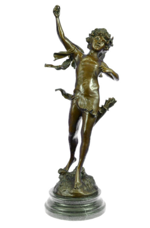 After Auguste Moreau, Cupid Bronze Sculpture