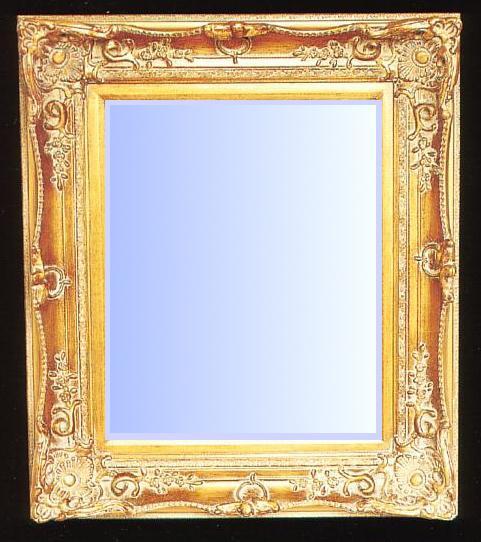Ornate Gold Gilt Frame Beveled Mirror