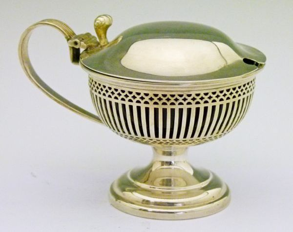 c1911 George V Silver Urn-shaped Mustard Pot