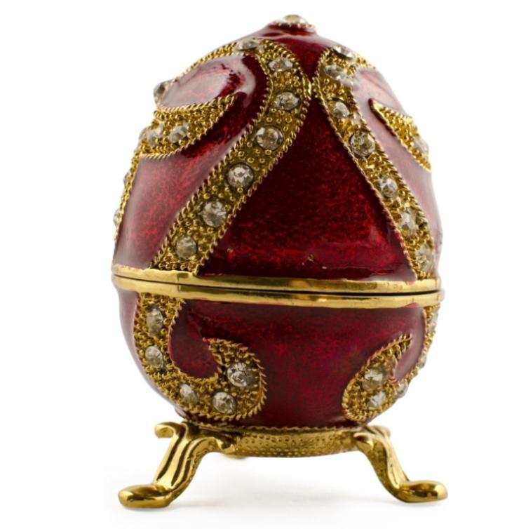 Oriental Style Faberge Inspired Trinket Box Egg