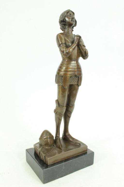 After Laugier, Joan of Arc Knight Sculpture