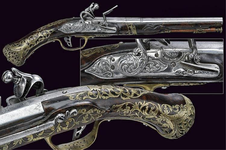 1635 Signed Italian Flintlock Pistol