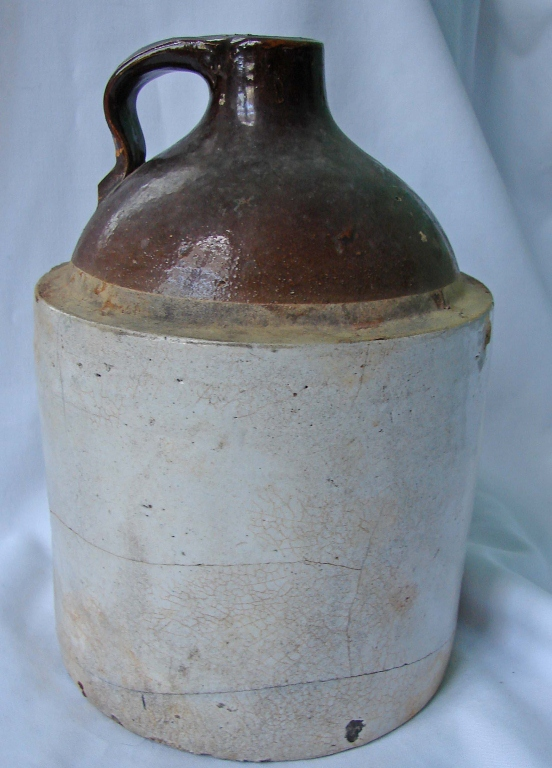 Antique Mid 19th Century Stoneware Whiskey Jug