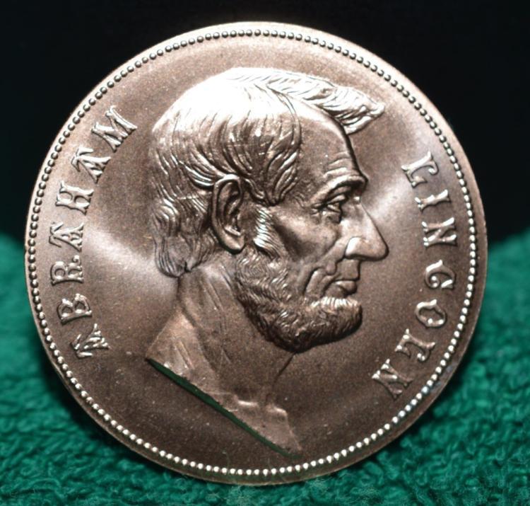 Abraham Lincoln Un-circulated Bronze Medallion