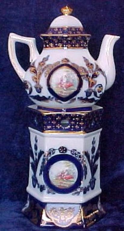 Flow Blue Tea Pot & Warmer Set