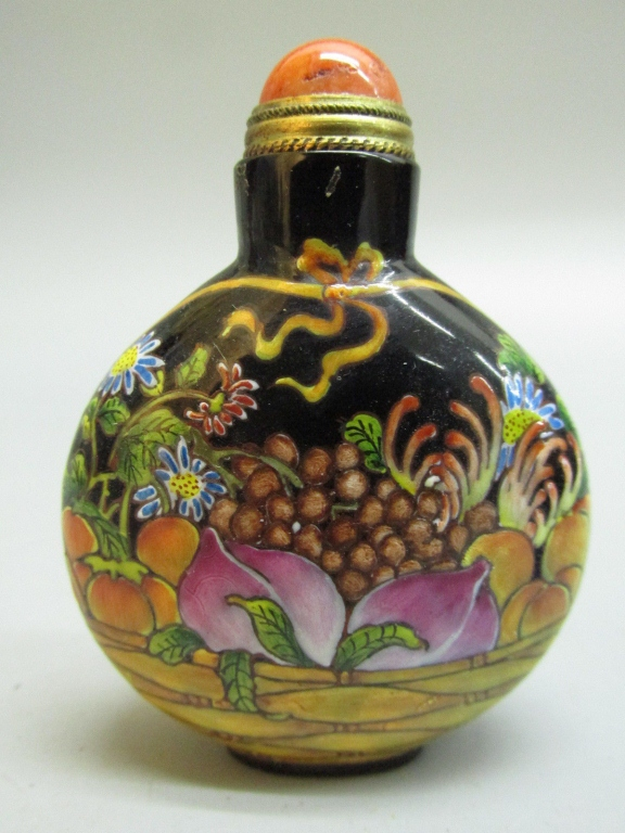 Chinese Hand-Painted Enameled Snuff Bottle